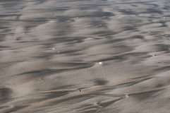 Patterns in the sand from the retreating tide Stock Photos
