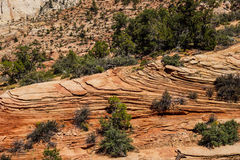 Patterns in the sandstone strata Stock Photo