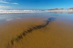 Patterns on sandy beach Las Canteras in Las Palmas, Gran Canaria Stock Photo
