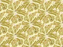 Batterfly gold patterns seamless. Patterns seamless with butterflies and blots design  s. batterfly gold patterns seamless s Royalty Free Stock Photos