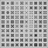 Patterns seamless set Stock Image