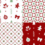 Patterns with set decorations Royalty Free Stock Photo