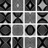 Patterns set. Design elements. Royalty Free Stock Photo