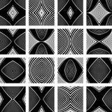 Patterns set. Design elements. Royalty Free Stock Photo