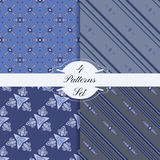 4 patterns set 2-02 Stock Photography