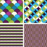 Patterns set Royalty Free Stock Images