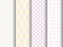 4 patterns set Royalty Free Stock Photography