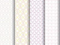 4 patterns set Royalty Free Stock Photography