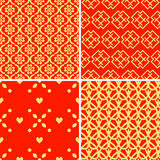 Patterns set. Seamless patterns with decorative ornament Stock Photos