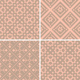 Patterns set. Seamless patterns with decorative ornament Stock Images