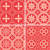 Patterns set. Seamless patterns with decorative ornament Royalty Free Stock Photos
