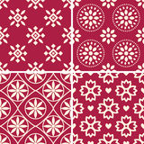 Patterns set. Seamless patterns with decorative ornament Royalty Free Stock Image