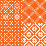 Patterns set. Seamless patterns with decorative ornament Royalty Free Stock Images