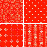 Patterns set. Seamless patterns with decorative ornament Royalty Free Stock Photography