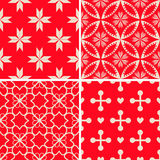 Patterns set. Seamless patterns with decorative ornament Stock Photography