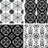 Patterns set. Seamless ornamental decorative damask patterns Royalty Free Stock Photos