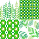 Patterns in shades of green Royalty Free Stock Images