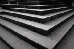 Patterns and shapes, steps and  stairs. Stepped arrows design and architecture Royalty Free Stock Photos