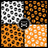 Patterns with skulls. Halloween collection: for seamless patterns with skulls Stock Image