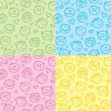 Patterns of smiles royalty free illustration