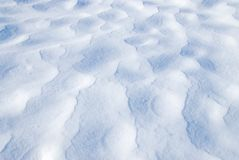 Patterns on Snow Surface Stock Photography