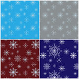 Patterns with snowflakes Royalty Free Stock Photo