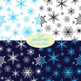 Patterns with snowflakes from tools Royalty Free Stock Photo