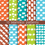 10 patterns with speech bubbles, Pattern swatches. Stock Image