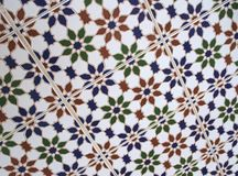 Patterns and structures of ancient Moorish tiles, Marocco Royalty Free Stock Images
