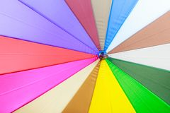Detailed closeup of colorful umbrella parasol Royalty Free Stock Photography