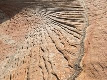 Navajo Sandstone in Zion. Patterns and textures, Navajo sandstone, Zion National Park, Utah royalty free stock photography