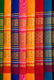 Patterns of Thai native cloths Royalty Free Stock Photography