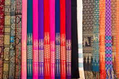 Patterns of Thai native cloths Royalty Free Stock Photo
