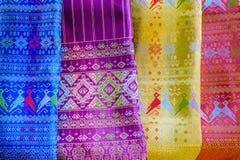 Patterns of thai silk Stock Photo