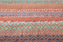 Patterns of thai silk Stock Images