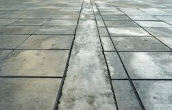 Patterns on a tile floor or walkway Stock Photos