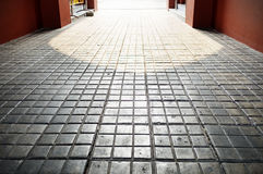 Patterns on a tile floor or walkway. Photo Stock Image