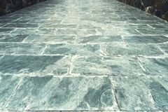 Patterns on a tile floor or walkway Royalty Free Stock Photography