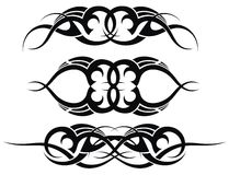 Patterns of tribal tattoo set Royalty Free Stock Photo