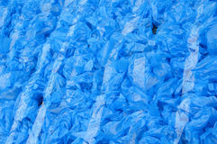 Patterns of used plastic bags Stock Photo