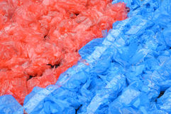 Patterns of used plastic bags Royalty Free Stock Photography