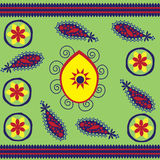 Patterns in the Uzbek folk style with Turkish cucu Royalty Free Stock Photography