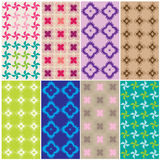 Patterns in various colors2 Royalty Free Stock Photography