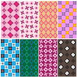 Patterns in various colors3 Royalty Free Stock Photo