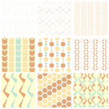 Patterns and wallpaper set vector illustration