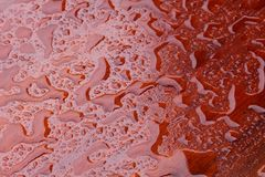 Patterns water drops wooden table top stock photos