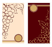 Patterns for wine labels Stock Images