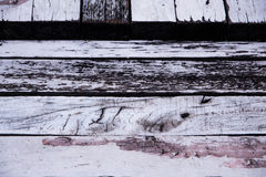 Patterns on wood. Patterns on old wood with peeling paint and  traces of corrosion Stock Images