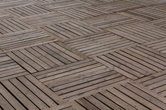 Patterns wooden planks pavement. Patterns and textures of a wooden planks pavement Royalty Free Stock Image