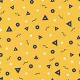 Patterns in yellow colors with geometric elements. Pattern hipster style.  suitable for posters, postcards, fabric or wrapping pap Stock Photos